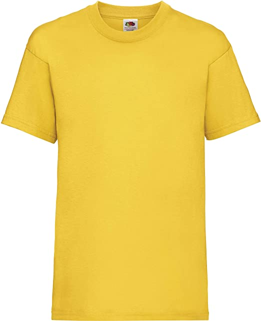 buy popular 8ffd3 24fc6 New Fruit of the Loom Childrens Kids Value Cotton T Shirt