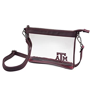 4594b13140f Capri Designs Small Clear Crossbody Bag Stadium Approved/Team Logo and  Color Accent