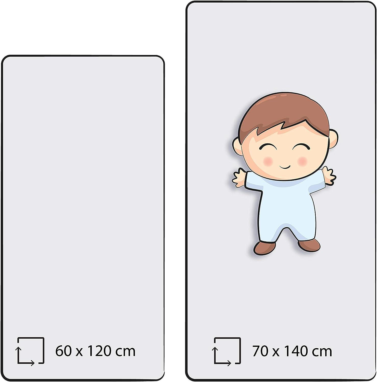 70 x 140 cm Certifi/é /Öko-Tex Standard Qualit/é sup/érieure en 100 /% coton Drap-housse Home-Tex/© Pour les lits denfants et de b/éb/és