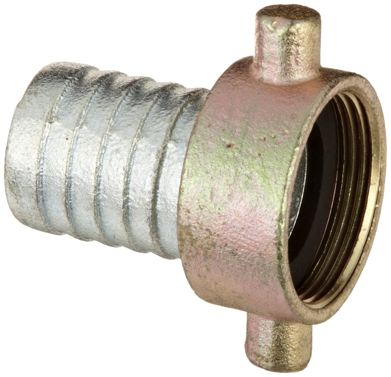 Dixon S17 Plated Iron Hose Fitting 1-1//4 NPSM Female x 1-1//4 Hose ID Barbed King Short Shank Suction Coupling with Plated Iron Nut