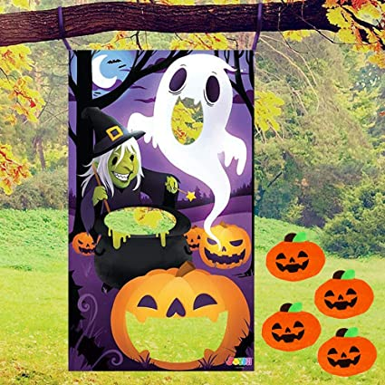 JOYIN Three Characters Toss Game with 4 Bean Bags Halloween-Themed Party Favor Supplies, Games Pack and Decoration for Kids