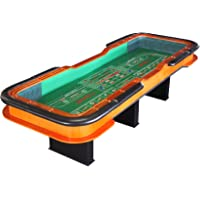 IDS Home 12' Deluxe Craps Dice Table with Diamond Rubber Green Craps Table