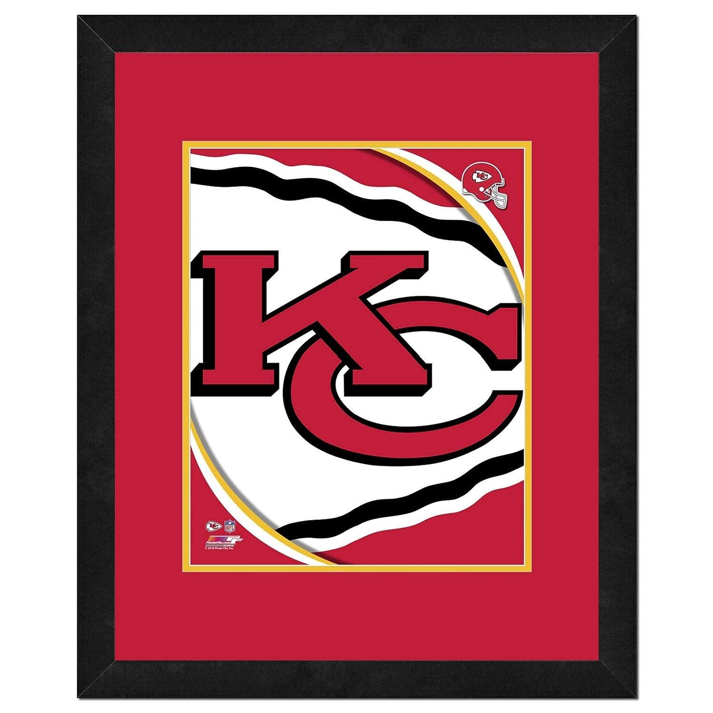全商品オープニング価格! NFLロゴ、美しくFramed、ダブルMatted , 18