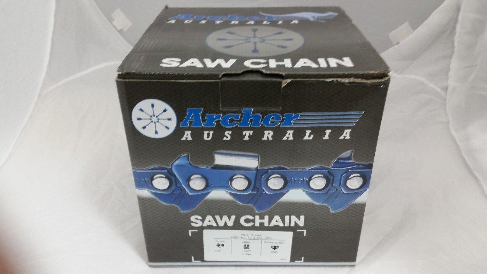Archer Chainsaw Chain 100ft Roll 3/8'' .050 Chisel Chainsaw Chain