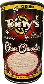 TONY'S CLAM CHOWDER 51oz New England Clam Chowder