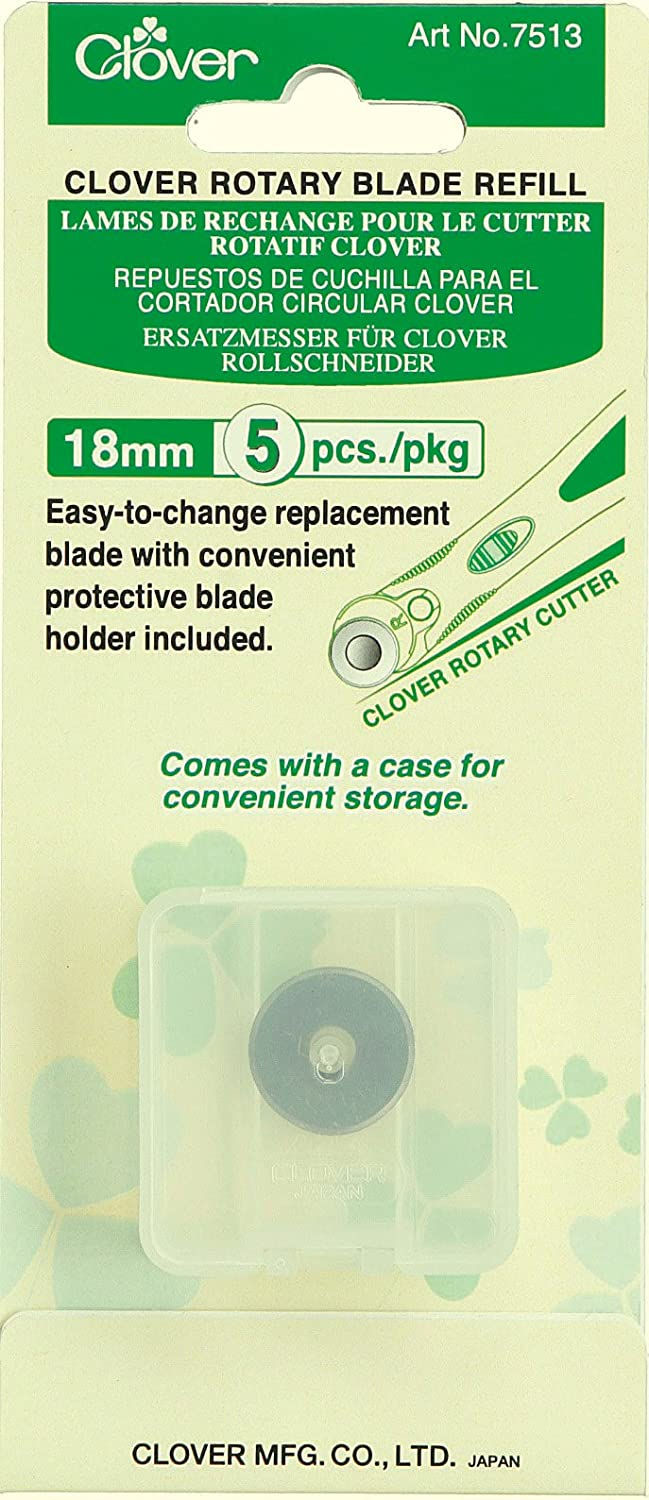5 EA Clover Rotary 18mm Blade Refill