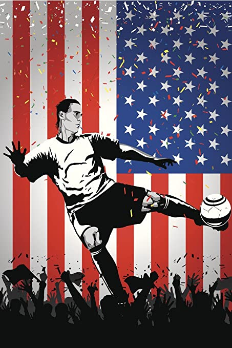 amazon com usa soccer player sports poster 12x18 inch posters prints
