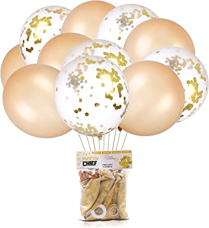 ONE FOIL JUMBO CONFETTI GOLD PACK OF 20 BIRTHDAY PARTY SUPPLIES