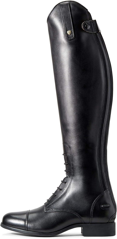 Ariat Contour II Womens Field Zip Long Riding Boots UK 4.5 Short Slim Black