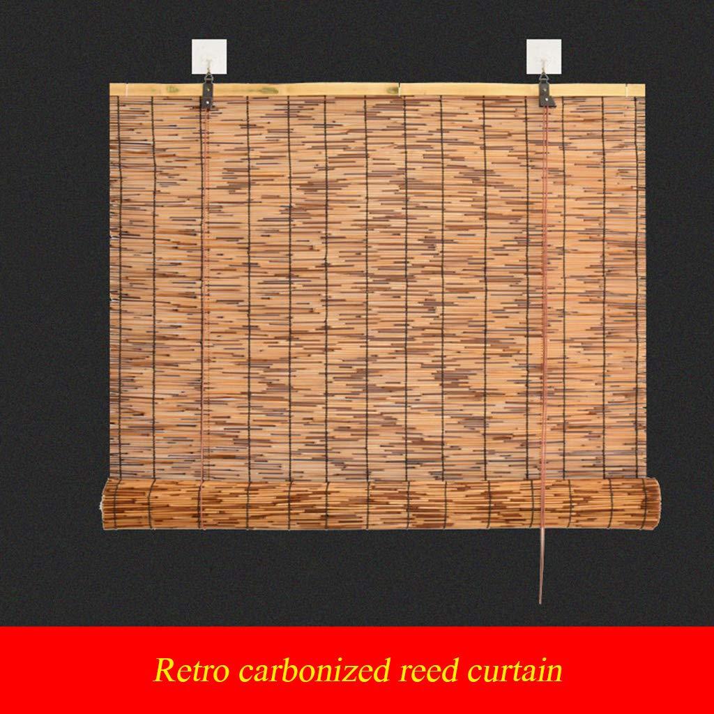 Taille Peut /être personnalis/é Bambou Stores d/écoration de la Maison Reed Rideau Rouleau Rideau Parasol Rideau int/érieur et ext/érieur Rideau dherbe