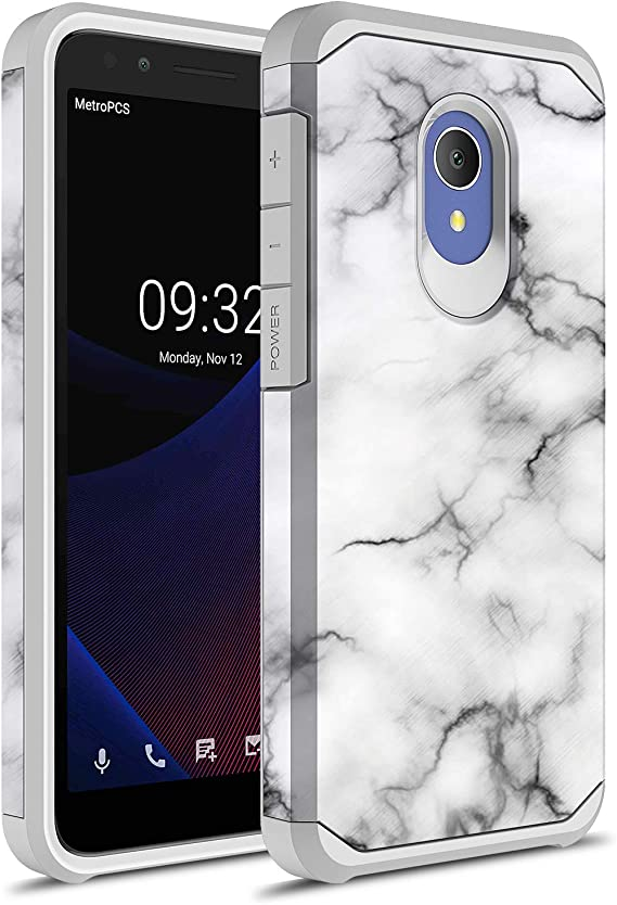 1X Evolve TCL LX Case Red//Black idealXTRA Tempered Glass Screen Protector and Atom Cloth Military Grade Shockproof Slim Cover BC TriShield Series Compatible with Alcatel Avalon V