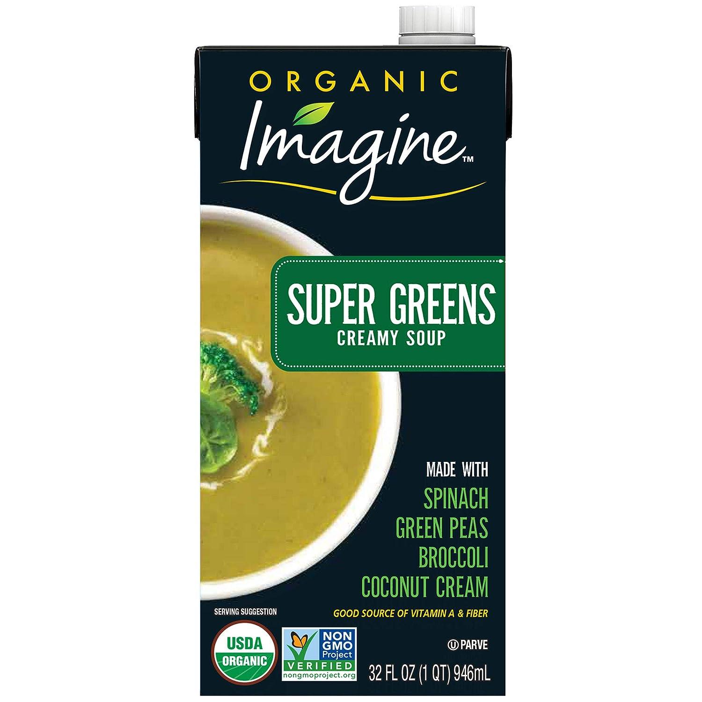 Imagine Organic Creamy Super Soups, Green, 32 Fl Oz, Pack of 12