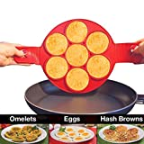 Nonstick Silikon Ei Ring Pfannkuchen Form,Kyerivs Fantastic Fast&Einfache Möglichkeit Perfekte Pancakes