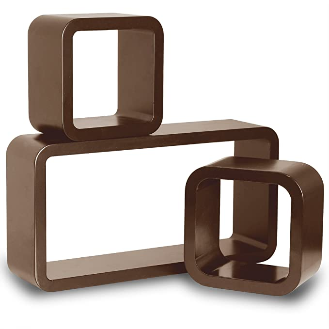 50 opinioni per WOLTU 9226-a Mensole da Muro Mensola a Cubo Scaffale Parete Legno MDF Moderno 3