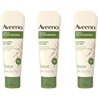 Aveeno Daily Moisturizing Body Lotion with Soothing Oat and Rich Emollients to Nourish Dry Skin, Fragrance-Free, 2.5 fl…
