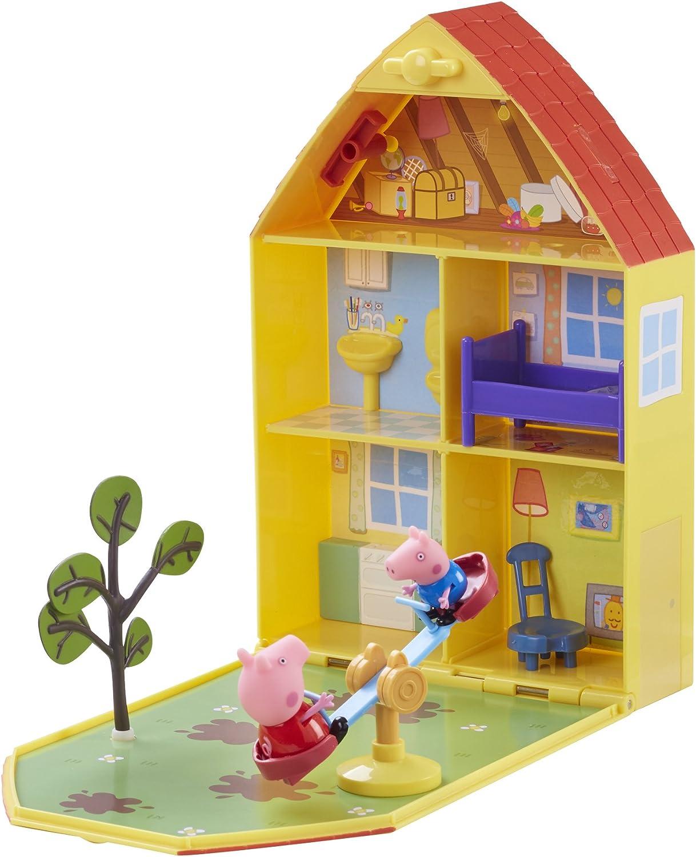 Peppa Pig 06156 - Maletín de Juego Casa y jardín de Peppa: Amazon.es: Juguetes y juegos