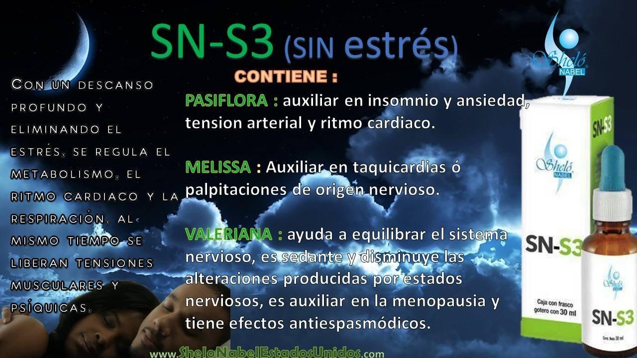 SN-S3 Liquid Herbal Extracts / Extractos Líquidos Herbales MELISSA, PASSIONFLOWER, VALERIAN AND CHAMOMILE MELISSA, PASSIFLORA, VALERIANA Y MANZANILLA