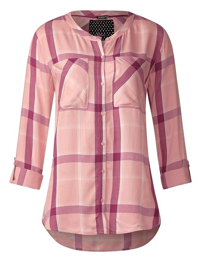 Street One 340607, Blusa para Mujer, Rosa (Studio Rose 30978), 46 (Talla del Fabricante: 44)