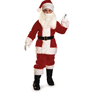 Rubies Plush Child Santa Suit Costume, Medium: Toys & Games