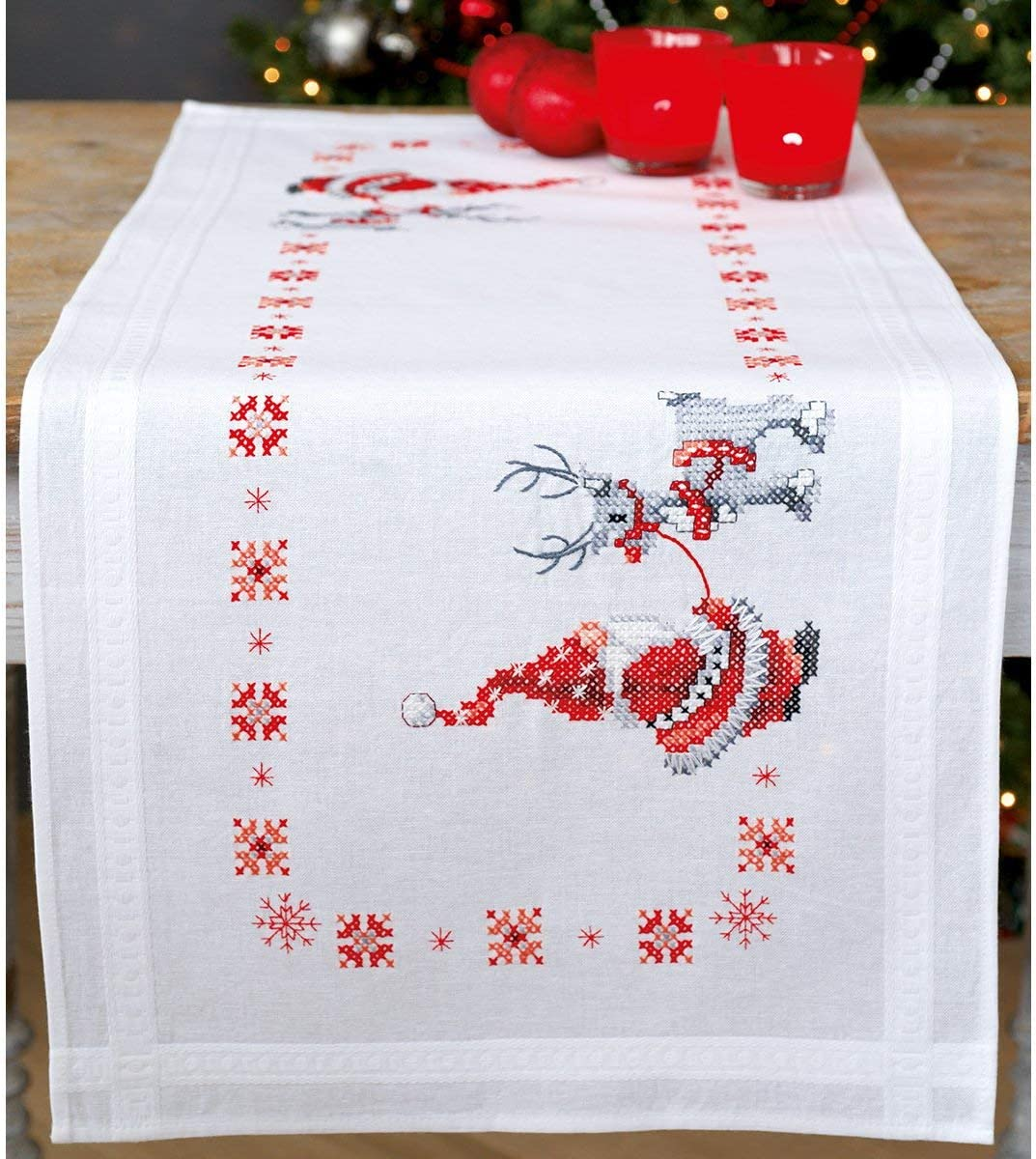 Amazon.com: Vervaco – Kit para cojín de Navidad Elfos Camino ...