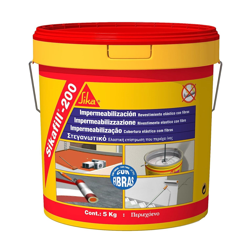 Sika sikafill-200 fibras - Revestimiento elastico/a fill-200 rojo (bote 20kg): Amazon.es: Bricolaje y herramientas