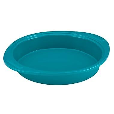 SilverStone Hybrid Ceramic Nonstick Bakeware Steel Cake Pan, 9-Inch Round, Marine Blue