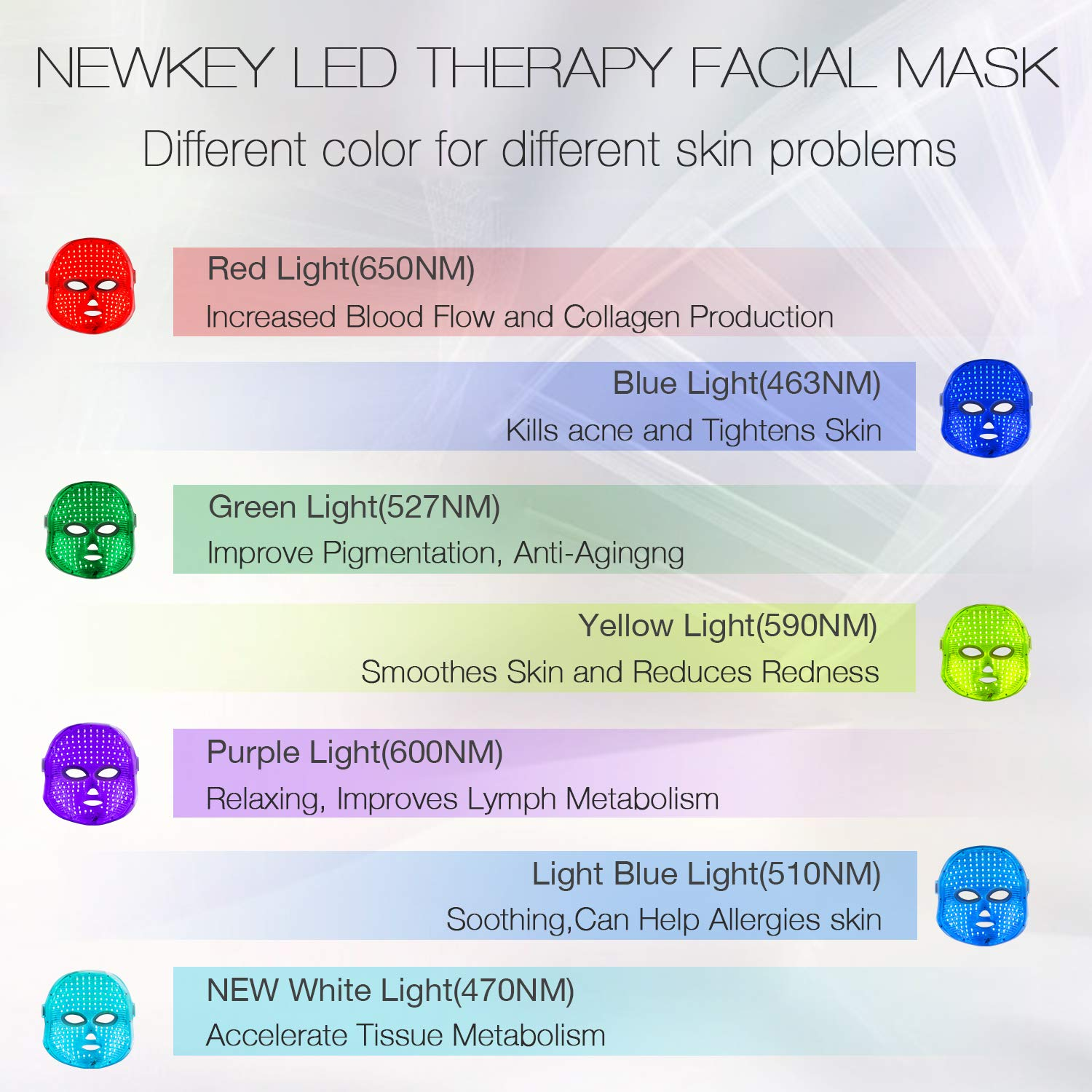 Amazon Com Newkey Light Facial Mask For Skin Care Product Beauty