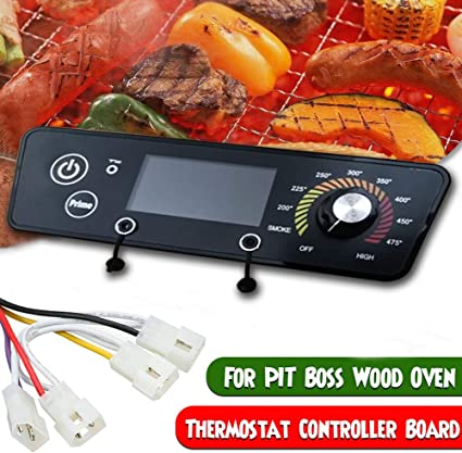 Thermostat Controller Board Adjustable Temperature Kitchen Accurate Digital Replacement Stainless Steel LCD Display Temperature Sensor Replacement Part for Grills Kitchen Cooking