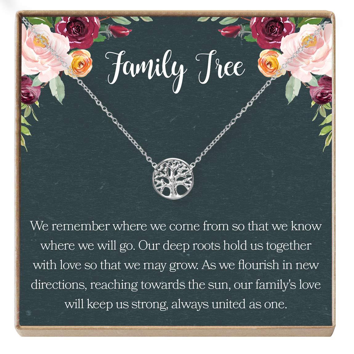 Tree Generations Dear Ava Family Tree Necklace Gift: Tree of Life Necklace Pendant Charm