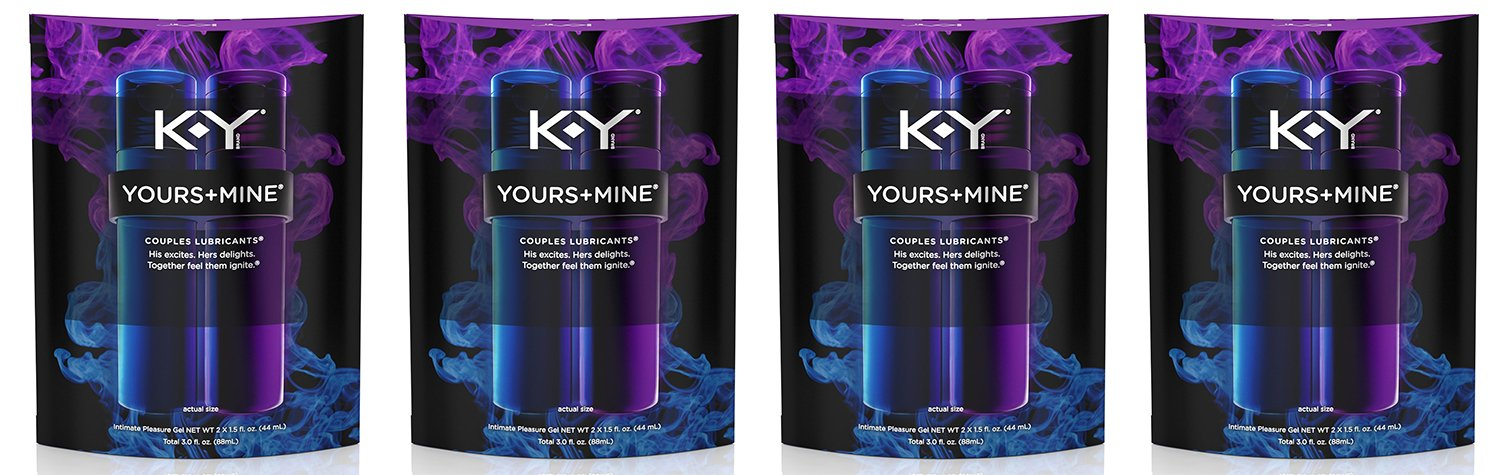 K-Y Yours and Mine Couples Lubricant mmvIl - 3 Oz (4 Pack) by Multiple