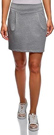 oodji Ultra Mujer Falda de Punto con Cremallera: Amazon.es: Ropa ...