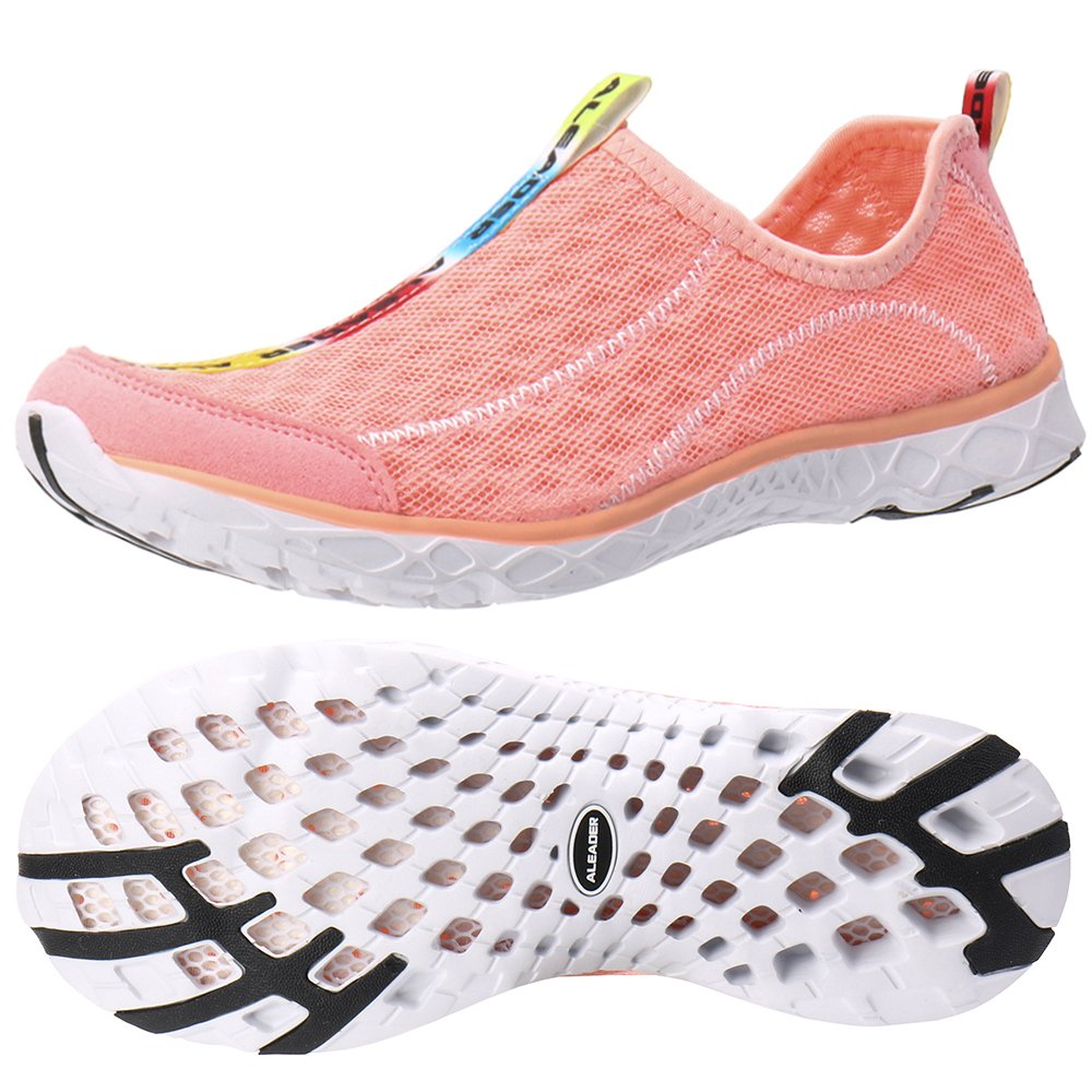 ALEADER Women's Mesh Slip On Water Shoes Sandy Rose 9 D(M) US by ALEADER