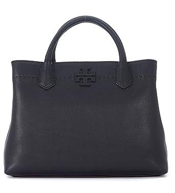 516d898868 Amazon.com: Tory Burch McGraw Center Zip Leather Satchel Bag (Black):  Watches
