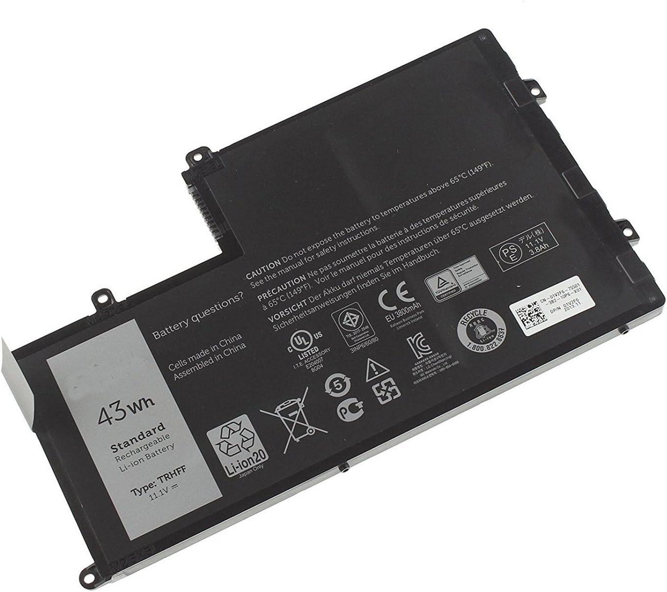 Dentsing TRHFF Battery for Dell Inspiron 15-5547 Maple 3C TRHFF 1V2F6 DL011307-PRR13G01 43Wh