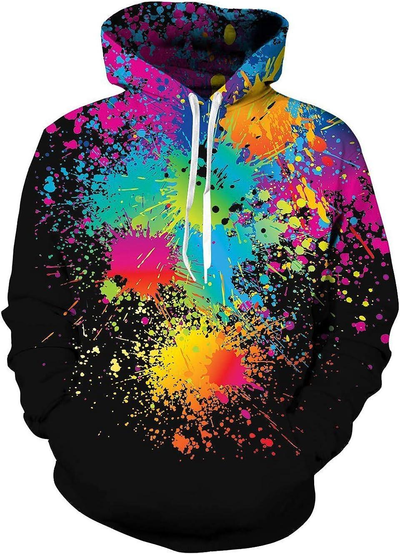 TUONROAD Hoodie Homme Dr/ôle Imprim/é en 3D Sweatshirts Femme L/éger Gym Sweat Manches Longues Sweat /à Capuche Confortable Casual Pullover avec Poches S-3XL