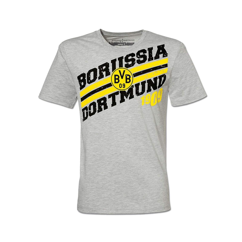 725d20dceee781 grau Borussia Dortmund-T-Shirt für Kinder Silbergrau