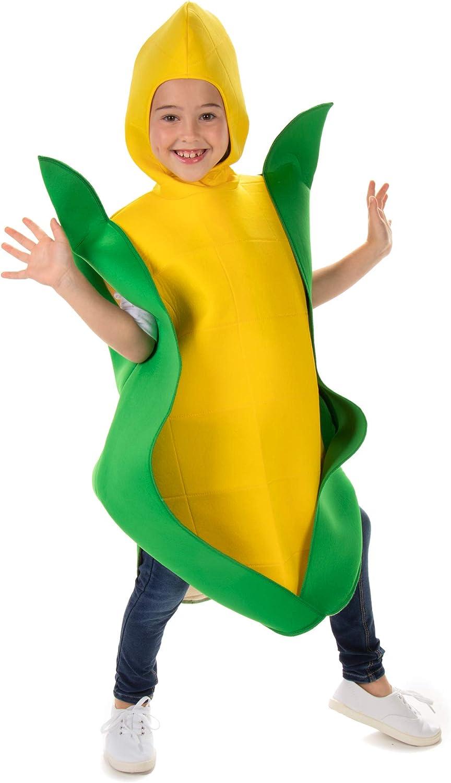 Golden Corn Cobb Childrens Halloween Costume – Funny Food Kids Veggie Suit
