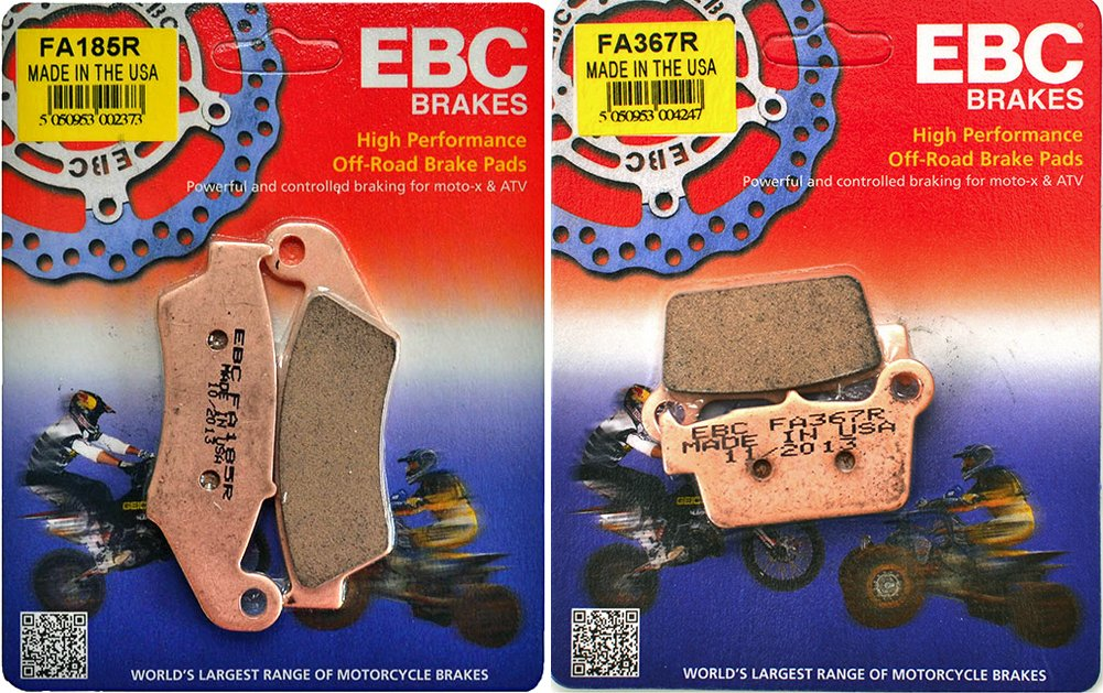 EBC R Series Front /& Rear Brake Pad Set Kawasaki KX250F KX450F /_ FA185R FA367R