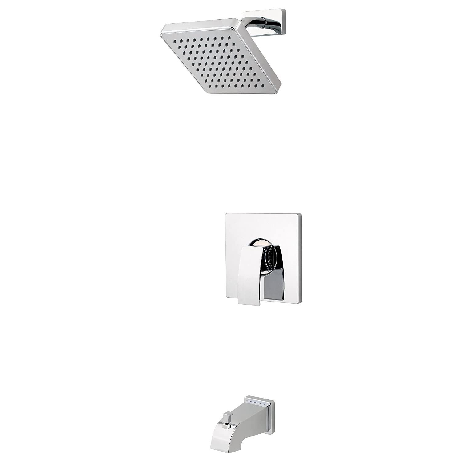 Pfister G898DFB Kenzo 1 Handle Tub and Shower Trim in Black     Amazon comPfister G898DFB Kenzo 1 Handle Tub and Shower Trim in Black  . Black Shower Head And Faucet. Home Design Ideas