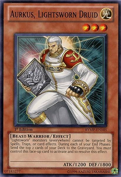 3 X YU-GI-OH CARDS LIGHTSWORN DRUID AURKUS RYMP-EN105-1st EDITION
