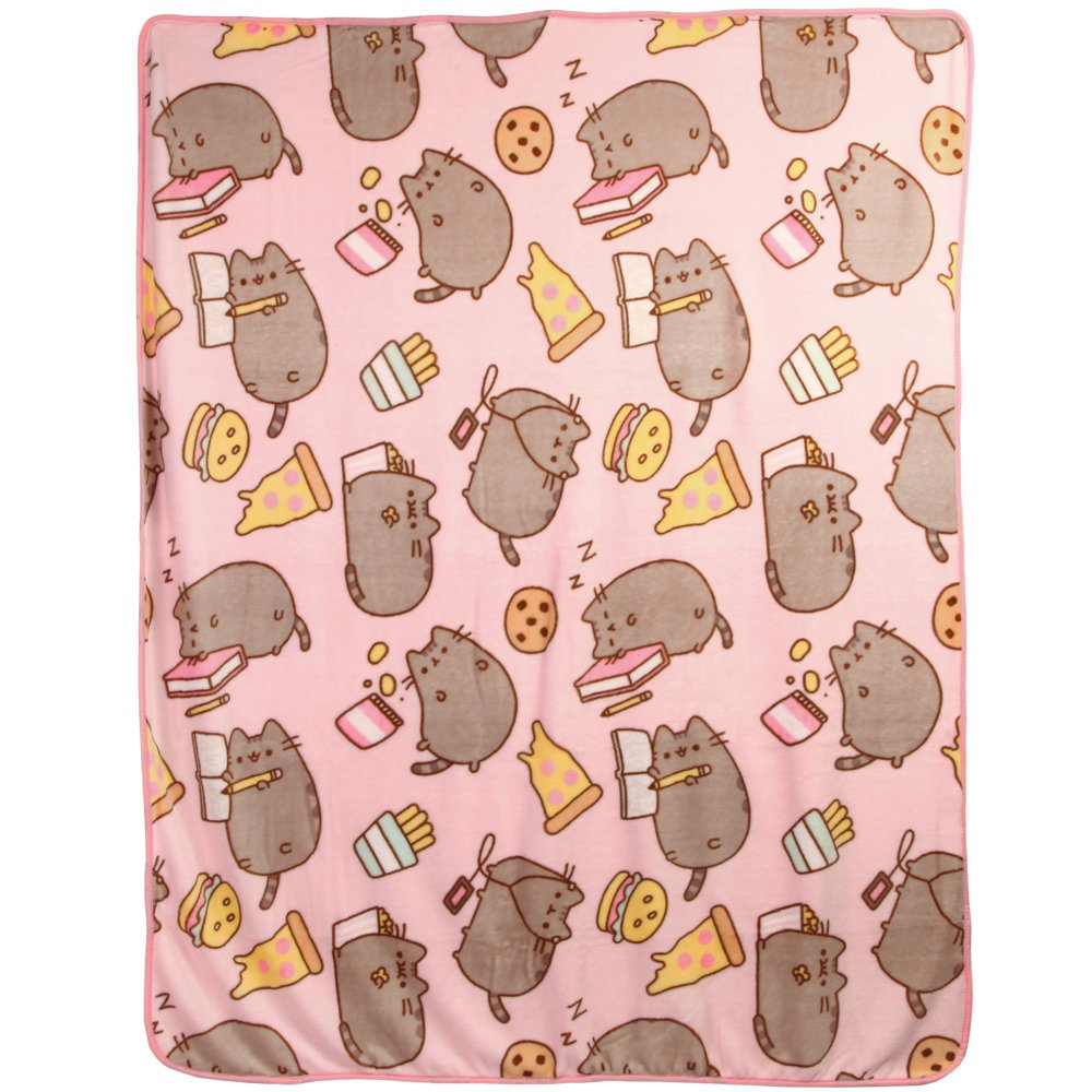 Pusheen Junk Food Throw Blanket Standard free shipping