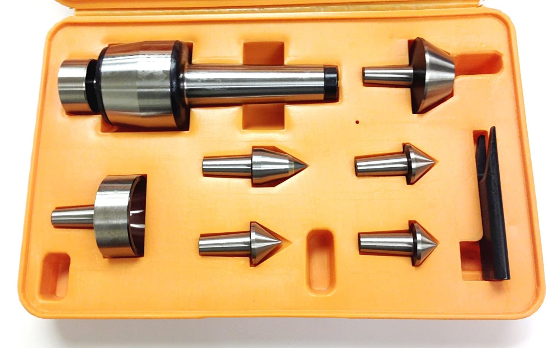 MT2 Morse Taper 650 lb Thrust Load HHIP 3900-5020 7 Piece Multi-Shape Live Center Set