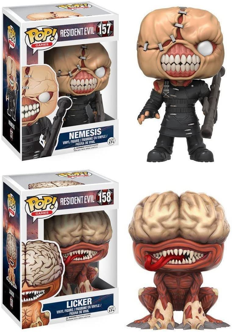Funko POP! Resident Evil: The Nemesis + The Licker - Vinyl Figure ...