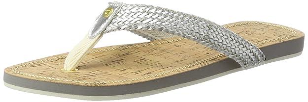 GANT Footwear Damen St Bart Zehentrenner, Silber (Silver), 38 EU