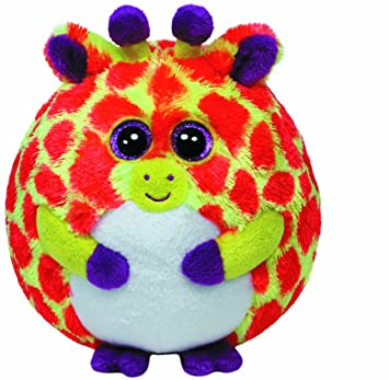 Ty Toby Jirafa Púrpura, Rojo, Color blanco, Amarillo - juguetes de peluche (
