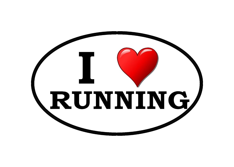 I Love Running Sticker Bumper Sticker Oval 5 x 3 Decal Runner Track Run Rogue River Tactical