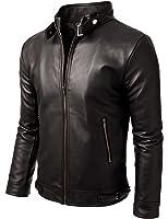 Iftekhar Men's Pure leather Jacket - Black - (Iftekhar09)