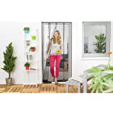 Insektenschutz Lamellenvorhang für Türen Türvorhang Polyester 100 x 220 cm Schwarz