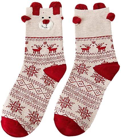 Frauen Winter Socken Weihnachten Warm Cotton Sock Snowflake Deer Claus