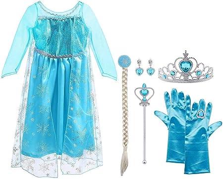 👸【Hacer Realidad los Sueños】- Se trata de un disfraz de Elsa, progagonista de la peli de , Frozen.